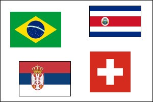 World Cup 2018 Group E-F-G-H Winners/Qualification Odds